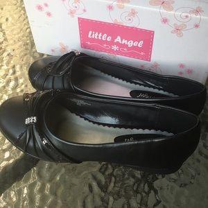 NWT black dress shoes size 3 girls
